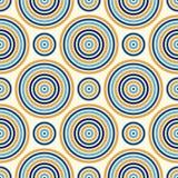 Nahtloses Muster mit symmetrischer geometrischer Verzierung Abstrakter Hintergrund mit Farberunden vortexes Stockbilder