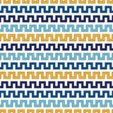 Nahtloses Muster mit symmetrischer geometrischer Verzierung Heller ethnischer abstrakter Hintergrund des Zickzacks Stockfotos