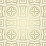 Nahtloses Muster mit symmetrischer geometrischer Verzierung Zusammenfassung verziert Hintergrund Elegante goldene Tapete Stockfoto