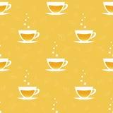 Nahtloses Muster mit Tassen Tee Lizenzfreies Stockfoto