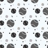 Nahtloses Muster mit Tennisball: trägt Bälle zur Schau Auch im corel abgehobenen Betrag lizenzfreie abbildung