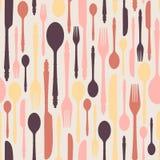Nahtloses Muster mit Tischbesteck 2 Stockfotos