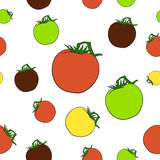 Nahtloses Muster mit Tomaten Lizenzfreies Stockbild