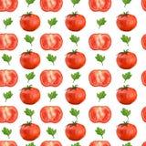 Nahtloses Muster mit Tomaten und Petersilie Lizenzfreie Stockfotografie