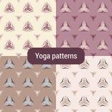 Nahtloses Muster mit Triquetra-Symbol Lizenzfreie Stockbilder
