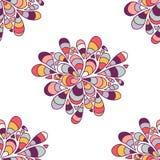 Nahtloses Muster mit Tropfen Endlose Blume mit abstrakten Blumen stock abbildung