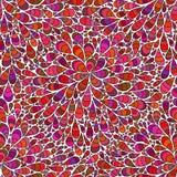 Nahtloses Muster mit Tropfen Endlose Blume mit abstrakten Blumen vektor abbildung