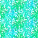 Nahtloses Muster mit tropischen Palmblättern Stockfoto