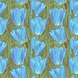 Nahtloses Muster mit Tulpen Lizenzfreie Stockfotos