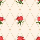 Nahtloses Muster mit Tulpen Lizenzfreie Stockfotografie