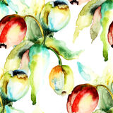 Nahtloses Muster mit Tulpenblumen Stockfotografie