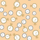 Nahtloses Muster mit Uhren 569 Lizenzfreie Stockbilder