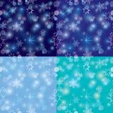 Nahtloses Muster mit unscharfen Weihnachtslichtern Lizenzfreies Stockfoto
