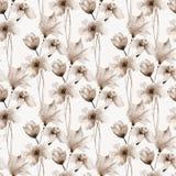Nahtloses Muster mit ursprünglichen Blumen Stockfotografie