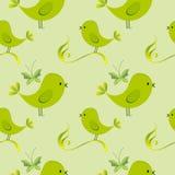 Nahtloses Muster mit Vögeln Kindische Illustration in der Karikaturart Stockfotografie