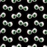 Nahtloses Muster mit verärgerten Augen Halloweens Stockfotografie