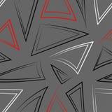 Nahtloses Muster mit verschiedenen Dreiecken Lizenzfreie Stockfotos