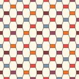 Nahtloses Muster mit vertikaler Bortenverzierung Achteckfliesen-Oberflächenhintergrund Moderne Artzusammenfassungstapete Lizenzfreie Stockbilder