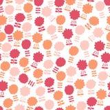Nahtloses Muster mit vielen Blumen Stockfotografie