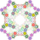 Nahtloses Muster mit vielen bunten Blumen - Lizenzfreies Stockfoto