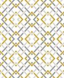 Nahtloses Muster mit vielen schneidenen Linien und Ecken Kette von geometrischen Formen lizenzfreie abbildung
