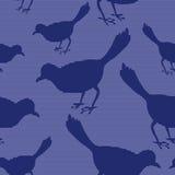 Nahtloses Muster mit Vogelschattenbildern Stockbilder