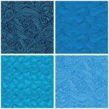 Nahtloses Muster mit von Hand gezeichnet Wellen Lizenzfreie Stockfotografie