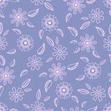 Nahtloses Muster mit von Hand gezeichneten leichten Blumen Lizenzfreie Stockfotos
