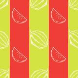 Nahtloses Muster mit Wassermelone Stockfoto
