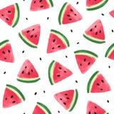 Nahtloses Muster mit Wassermelonen Lizenzfreie Stockbilder