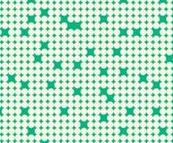 Nahtloses Muster mit weißen Kreisen stock abbildung