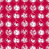 Nahtloses Muster mit weißem Schattenbild des Granatapfels Handgezogene Entwurfskunst lizenzfreie abbildung