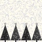 Nahtloses Muster mit Weihnachtsbäumen Lizenzfreies Stockbild
