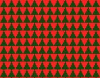 Nahtloses Muster mit Weihnachtsbäumen Lizenzfreie Abbildung