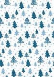 Nahtloses Muster mit Weihnachtsbäumen Vektor Lizenzfreie Stockbilder