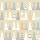 Nahtloses Muster mit Weihnachtsbäumen Vektor Lizenzfreies Stockfoto