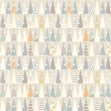 Nahtloses Muster mit Weihnachtsbäumen Vektor Stockfoto