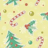 Nahtloses Muster mit Weihnachtselementen Stockfoto