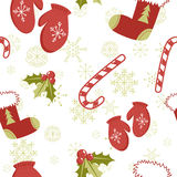 Nahtloses Muster mit Weihnachtselementen Stockbild