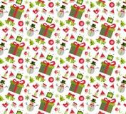 Nahtloses Muster mit Weihnachtselementen Lizenzfreies Stockbild