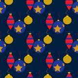 Nahtloses Muster mit Weihnachtsspielwaren Lizenzfreies Stockbild
