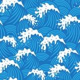 Nahtloses Muster mit Wellen Lizenzfreies Stockfoto