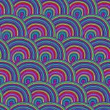 Nahtloses Muster mit Wellen. Lizenzfreies Stockfoto