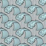 Nahtloses Muster mit Wellen Stockbild