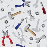 Nahtloses Muster mit Werkzeugen Stockfotografie