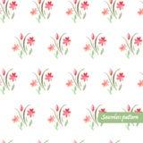 Nahtloses Muster mit wterolor Blumenstrauß Lizenzfreies Stockfoto