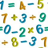 Nahtloses Muster mit Zahlen Stockbild