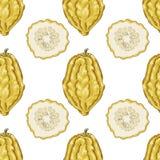Nahtloses Muster mit Zitrone Stockfotografie