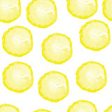 Nahtloses Muster mit Zitronen Lizenzfreies Stockfoto