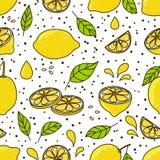 Nahtloses Muster mit Zitronen lizenzfreie abbildung